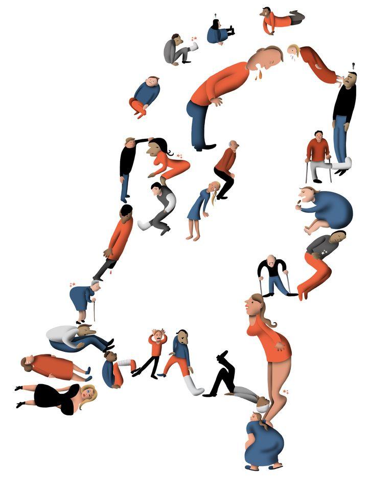 'Nederland is ziek', zei Ruud Lubbers in 1990. Er waren 900.000 arbeidsongeschikten. Beeld Nanne Meulendijks
