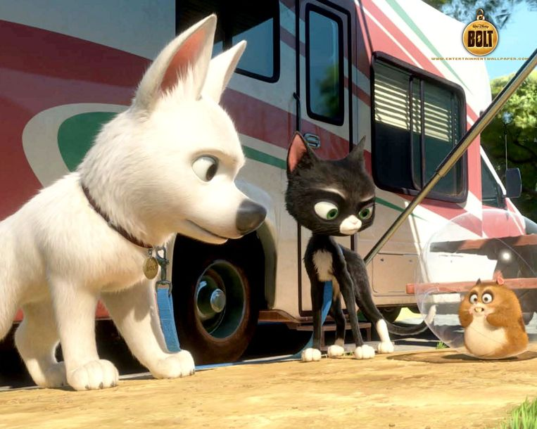 Bolt is een ware superheld. Nou ja, in zijn eigen tvserie American Dog.