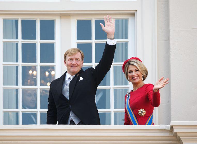 Koning Willem-Alexander en koningin Maxima. Beeld getty