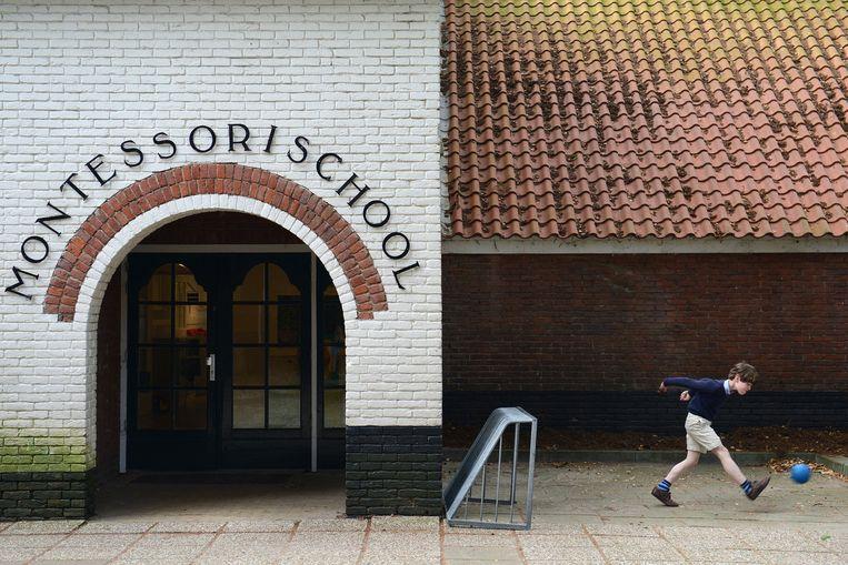 Een van de oudste Montessorischolen van Nederland in Laren. Beeld Bram Petraeus