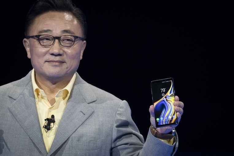 DongJin Koh bij de voorstelling van de Samsung Galaxy Note 9 eerder deze maand.