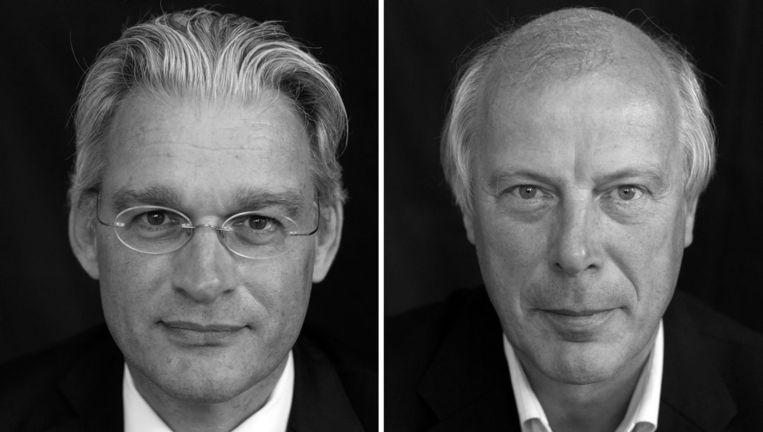 Theo Langejan (L), voorzitter van de Raad van Bestuur van de Nederlandse Zorgautoriteit, en Eitel Homan, bestuurslid van de Nederlandse Zorgautoriteit. Beeld anp