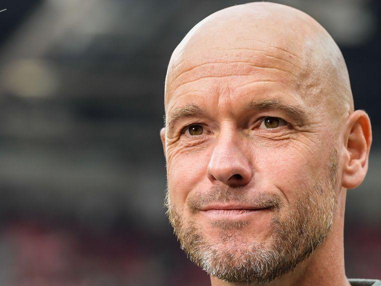 Ajax-oefenmeester Erik ten Hag. Beeld VI Images