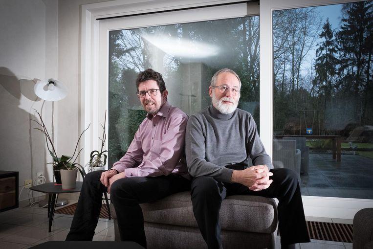 André De Smedt (rechts) organiseert 'Bike for Parkinson', ten voordele van de Vlaamse Parkinson Liga. Zijn vriend Luc Peeters (links) lijdt aan de ziekte.