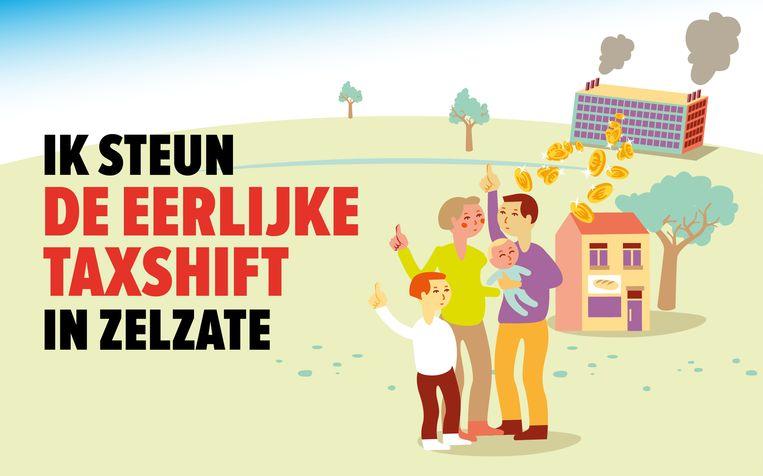 Het campagnefilmpje van PVDA over de eerlijke taxshift in Zelzate kon bij IDM niet meteen op applaus rekenen.