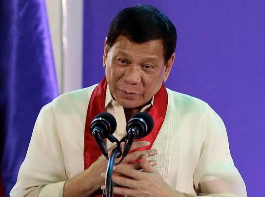 Filipijnse president Rodrigo Duterte.