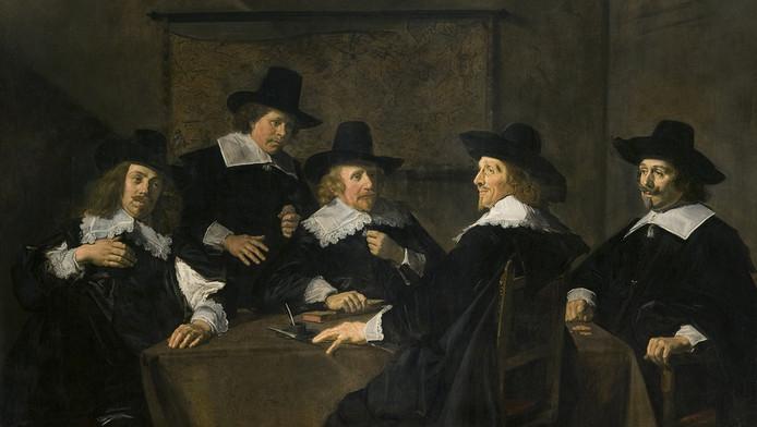 Het schilderij 'Regenten van het Sint Elisabeth's Gasthuis' is een van de bekendste werken van Frans Hals en hangt in het Frans Hals Museum. © ANP