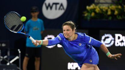 IN BEELD. Ook op haar 36ste nog één brok vechtlust: dit was de comeback van Kim Clijsters in Dubai