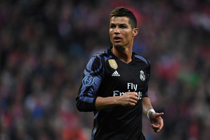 Cristiano Ronaldo tijdens de kwartfinale in de Champions League tegen Bayern München.