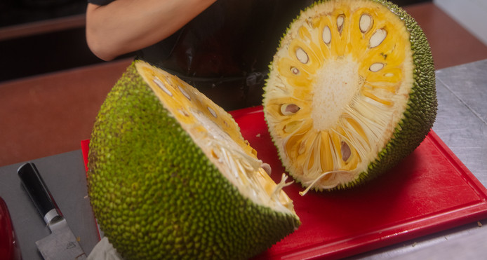 Een nangka ofwel jackfruit.