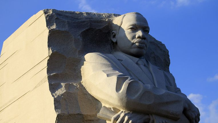 Monument voor Martin Luther King Jr. in Washington. Beeld ap