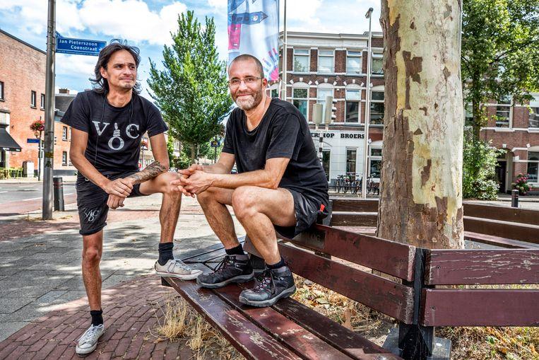 Michael van Zeijl (l) en Rogier Meijerink (r).  Beeld Raymond Rutting / de Volkskrant