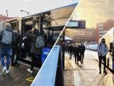 Studenten gedwongen in overvolle bussen naar school