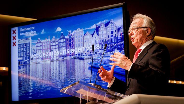 Burgemeester Jozias van Aartsen op verkiezingsavond Beeld ANP