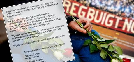 Burgemeester en wethouders van Utrecht plaatsen rouwadvertentie