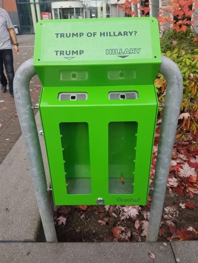 Een van Stembakken tijdens de Amerikaanse verkiezingen.