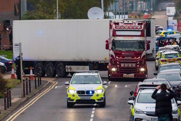 In de vrachtwagen werden begin deze week 39 lichamen gevonden.