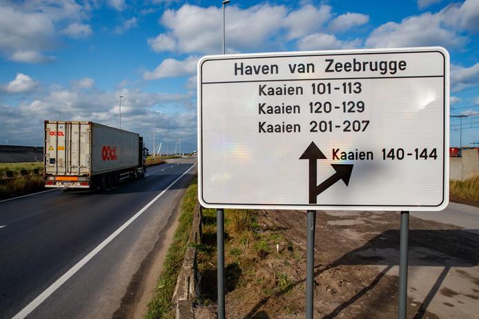 De 14 transmigranten werden opgepakt rond de haven van Zeebrugge