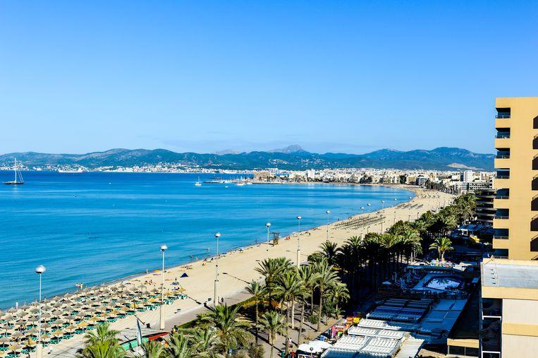 Het strand van Palma.