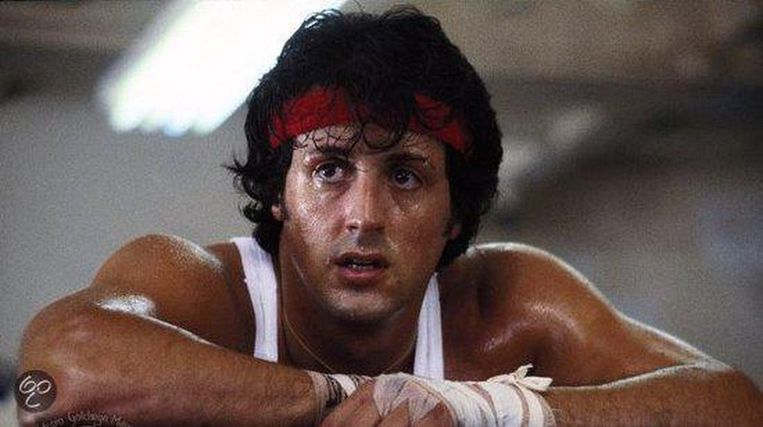 Sylvester Stallone in Rocky II. Beeld