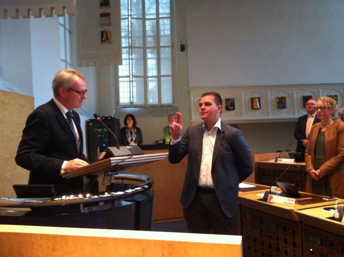 PVV'er Vincent Bosch wordt beëdigd.