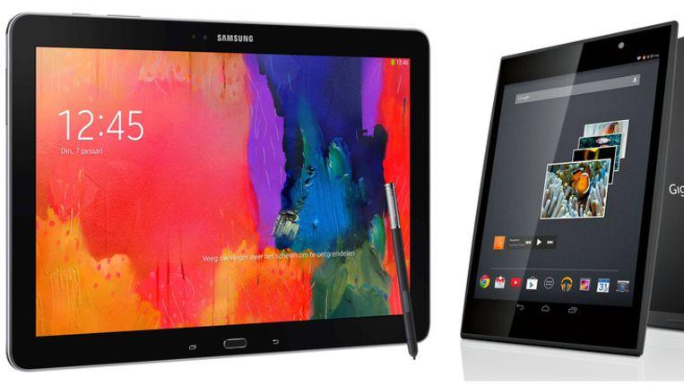 Nee, geen peren met appels vergelijken: deze tablets van Samsung en Gigaset bedienen elk een andere markt. En doen dat allebei goed. Beeld Samsung/Gigaset