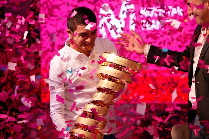 Richard Carapaz won vorig jaar de Giro.