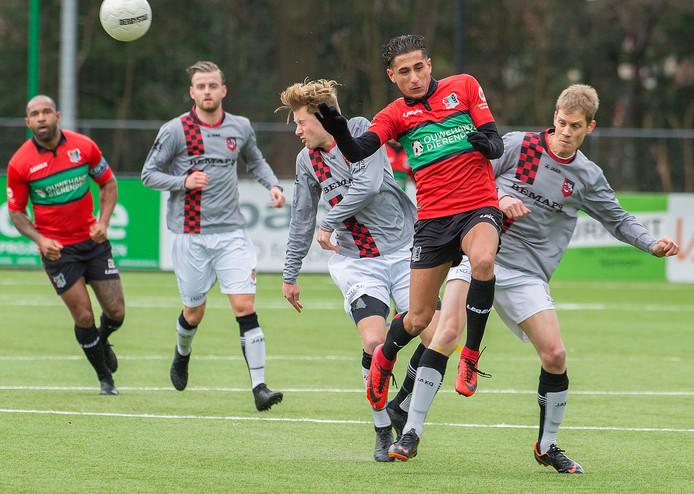 Elias Boumkass van NEC eerder dit seizoen in de thuiswedstrijd tegen Bemmel.