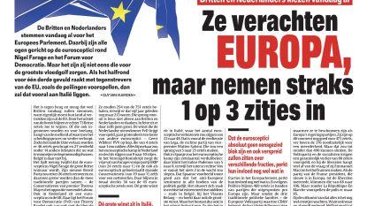 Ze verachten Europa, maar nemen straks 1 op 3 zitjes in