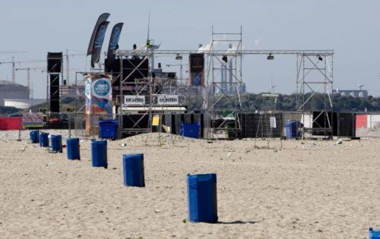 Twee verdachten van de strandrellen in Hoek van Holland hebben zichzelf gemeld bij de politie. ANP Beeld