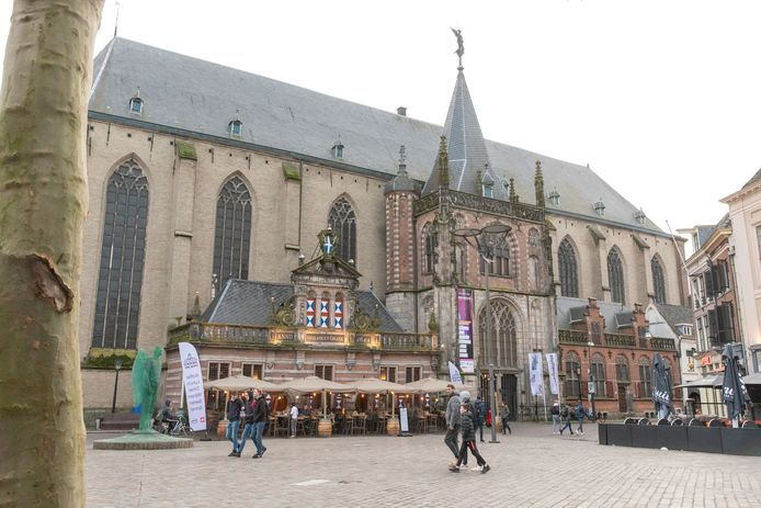 De Grote Kerk in het centrum van Zwolle.