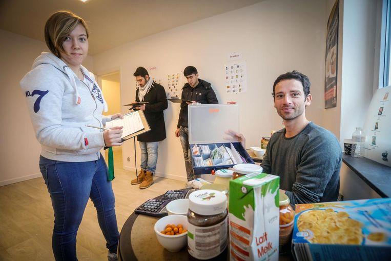 Gilles Frere geeft in het Budgethuis een cursus rond voeding.