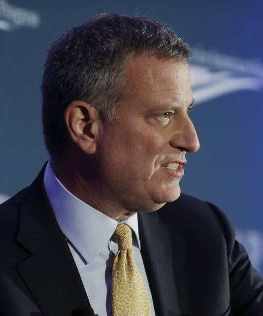De burgemeester van New York Bill de Blasio.