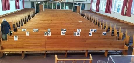 Selfies in kerkbanken in Bruinisse