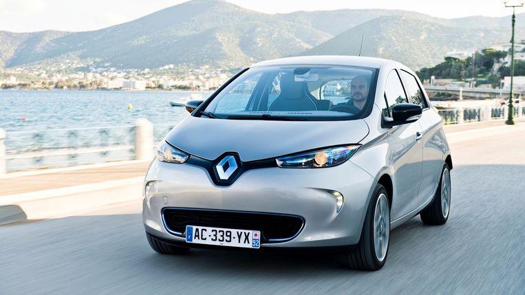 De overheid selecteerde vier elektrische wagens voor de groepsaankoop: hier de Renault ZOE.