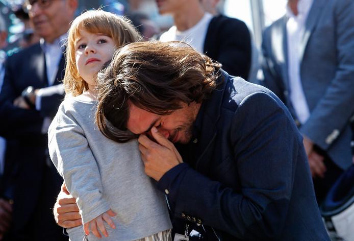 Gelete Nieto en zijn dochter Mia.