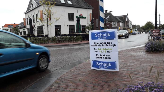 De actiegroep 'Schaijk hoort bij Oss' mobiliseert de inwoners.