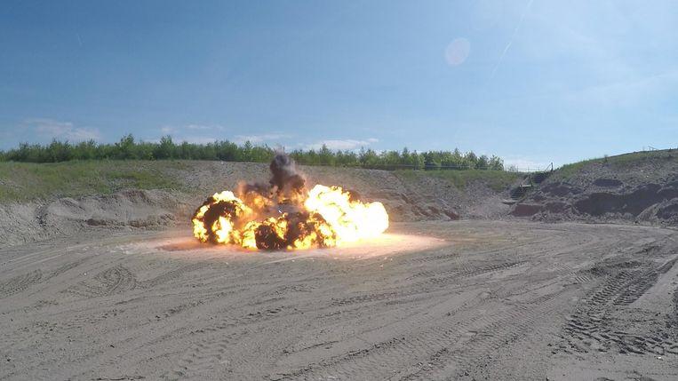 De ontploffing is vergelijkbaar met die van veertig granaten. Beeld anp