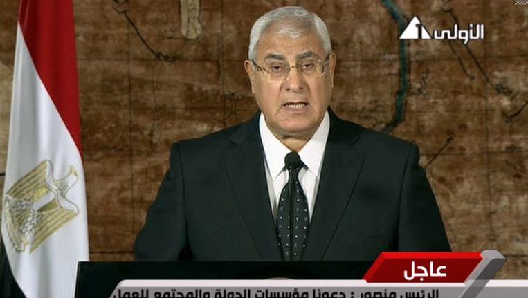 Interim-president Adli Mansour Beeld ap