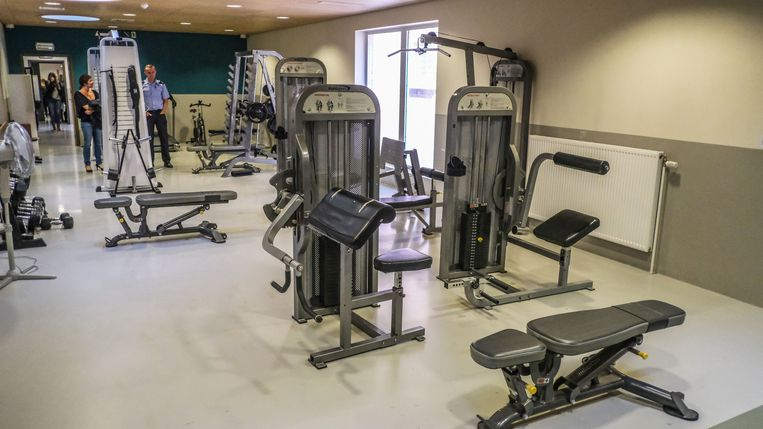 De fitnessruimte.