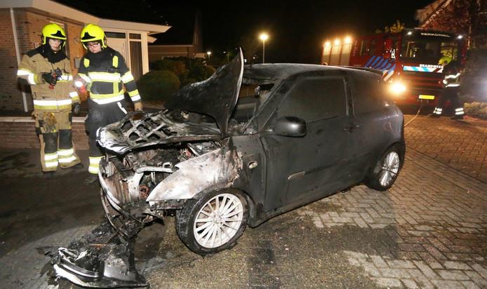 Autobrand in Kerkdriel.