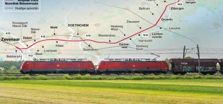 Rijden volle goederentreinen straks dwars door de Achterhoek? 'De regio heeft niets aan de Noordtak'