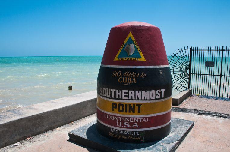 Zuidelijkste punt in Key West in Florida.