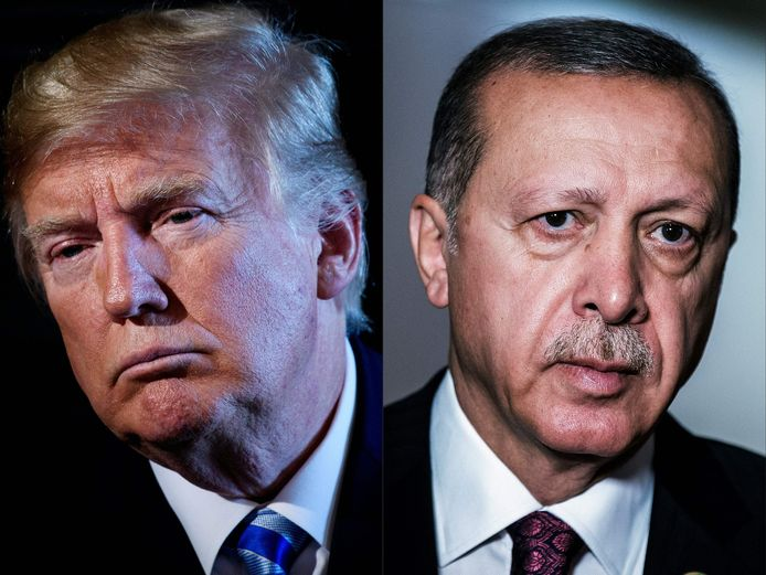 Trump en Erdogan.