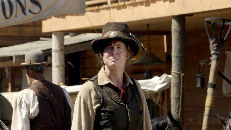 De vuilbekkende dronkelap Calamity Jane (Robin Weigert).