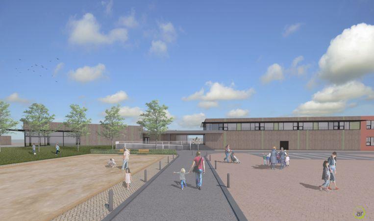 Een simulatie van de zuidzijde van het toekomstige gebouw.