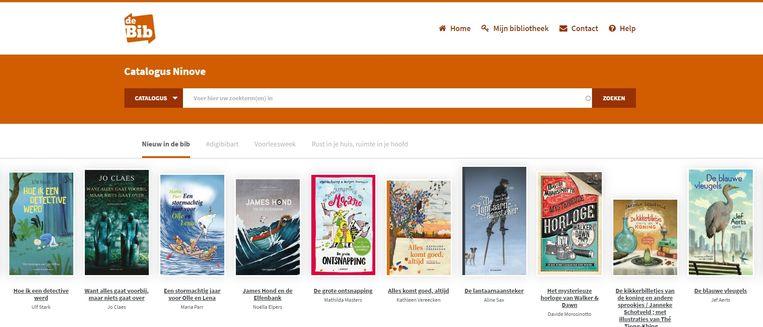 De nieuwe bibliotheekwebsite in Ninove.