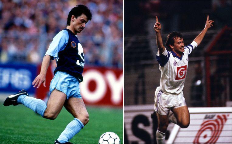 Links: Degryse in het shirt van Club Brugge. Rechts: Degryse voor Anderlecht