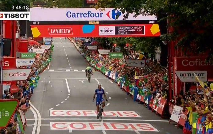 Gilbert mocht zijn handen in de lucht gooien in Bilbao.