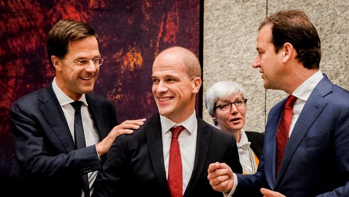 Premier Rutte (l) en Diederik Samsom